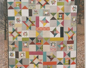 "SALE** Starfall Quilt Pattern - by Fresh Lemons Quilts - 60"" x 72"""