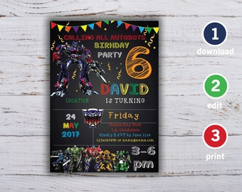 transformers invitation template, Transformers Birthday, Transformers Birthday Invitation, Transformers invitation, Transformers Printable