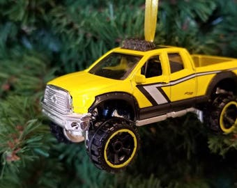 Custom Toyota Tundra 4x4 TRD pickup truck Christmas Ornament Free Shipping Happy Holidays