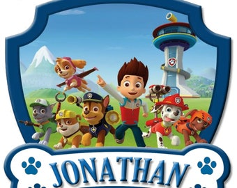 Paw Patrol Birthday Shirt Add Name & AGE Personalized for Family Birthday Party