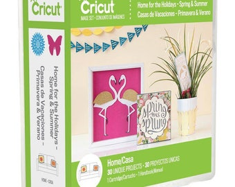 NEW!!!! Cricut Home for the Holidays- Spring and summer Cartridge. 30 images on this cartridge. Must use the universal overlay.