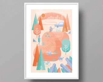 Swimmers | A3 Print