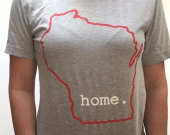 Wisconsin home. T-shirt