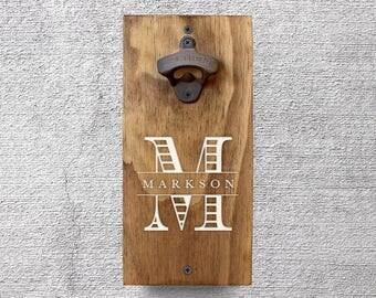 Custom Beer Bottle Opener, Wall Mount Bottle Opener, Rustic Home Decor, Home Bar Decor, Beer Lover Gift, Gifts for Men, Gifts for Him GA8022