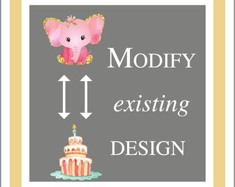 Modify Existing Design to a Different New Design Add On