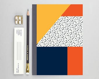 Yellow Geometric Pattern Notebook