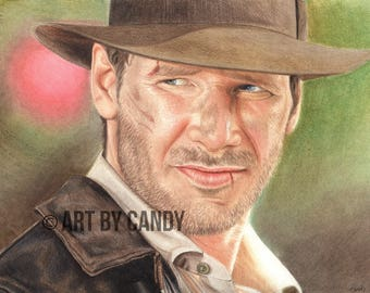Indiana Jones Original Drawing