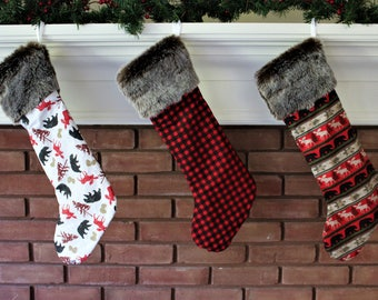 Plaid stocking | Etsy