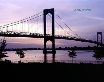 Whitestone Bridge at Sunset Color