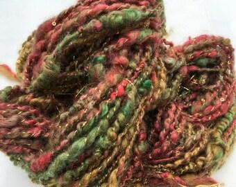 Sherbert - Hand Spun, Hand Dyed Mohair and Wool Yarn