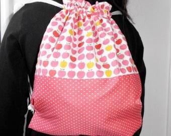 """Backpack kindergarten or Pajamas pink """"apples"""""""