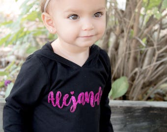 Personalized hoodie, personalized girls hoodie, personalized pullover, toddler personalized hooded pullover