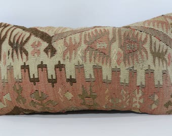 10x20 lumbar kilim pillow 10x20 turkish kilim rug pillow bohemian pillow decorative pillow home decor bed pillow cushion cover SP2550-1283