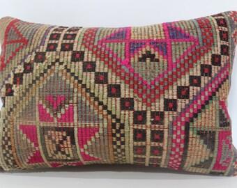 16x24 Embroidered Kilim Pillow Anatolian Kilim Pillow 16x24 Lumbar Kilim Pillow Multicolor Kilim Pillow Home Decor Cushion Cover SP4060-771