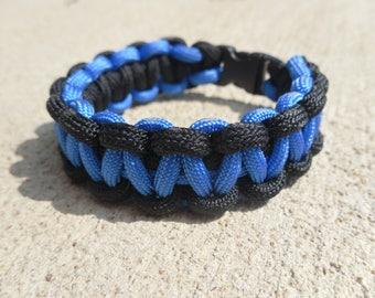 Paracord Thin Blue Line Bracelet | Police Officer Bracelet | Law Enforcement | Blue Lives Matter | LEO Support | Police Wife | Officer Gift