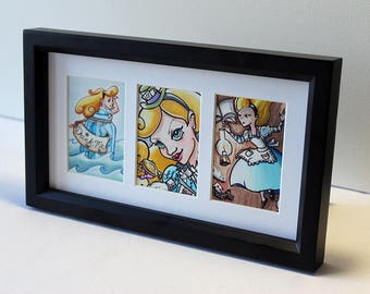 Alice Collection - framed, original artwork