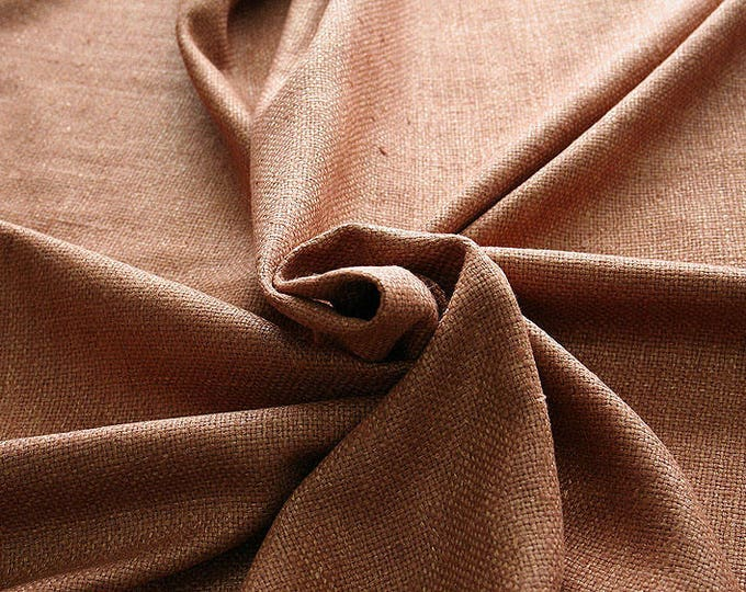 452043-natural Silk Rustic 100%, wide 135/140 cm, made in India, dry-washed, weight 312 gr
