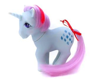 G1 My Little Pony Sparkler Original 1984 MLP Unicorn Horn Ponies Diamonds Hasbro Glitter 80s Tv Retro Earth Bronies brony 1980s Classic Toy
