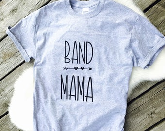 Band mama shirt, band mom shirt, marching band mom shirt, mom shirt, long sleeve, short sleeve, percussion mom