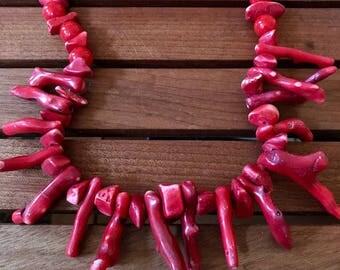 Bali vintage coral necklace