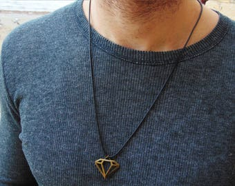 Mens Necklace*Mens Jewelry*Mens Gift*Necklace for Men*Man Necklace*Mens Pendant Necklace*Surfer Necklace*Boyfriend Gift*Superman Necklace