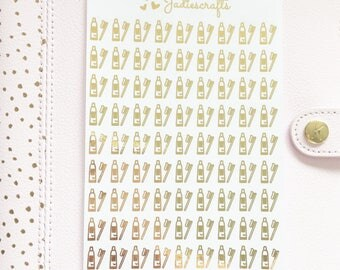 Foil Toothbrush & Toothpaste Stickers | Planner Stickers
