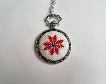 Hand embroidered pendan