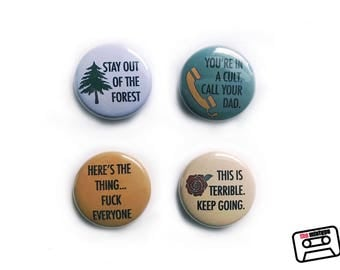 My Favorite Murder One Inch Pinback Button or Magnet Set