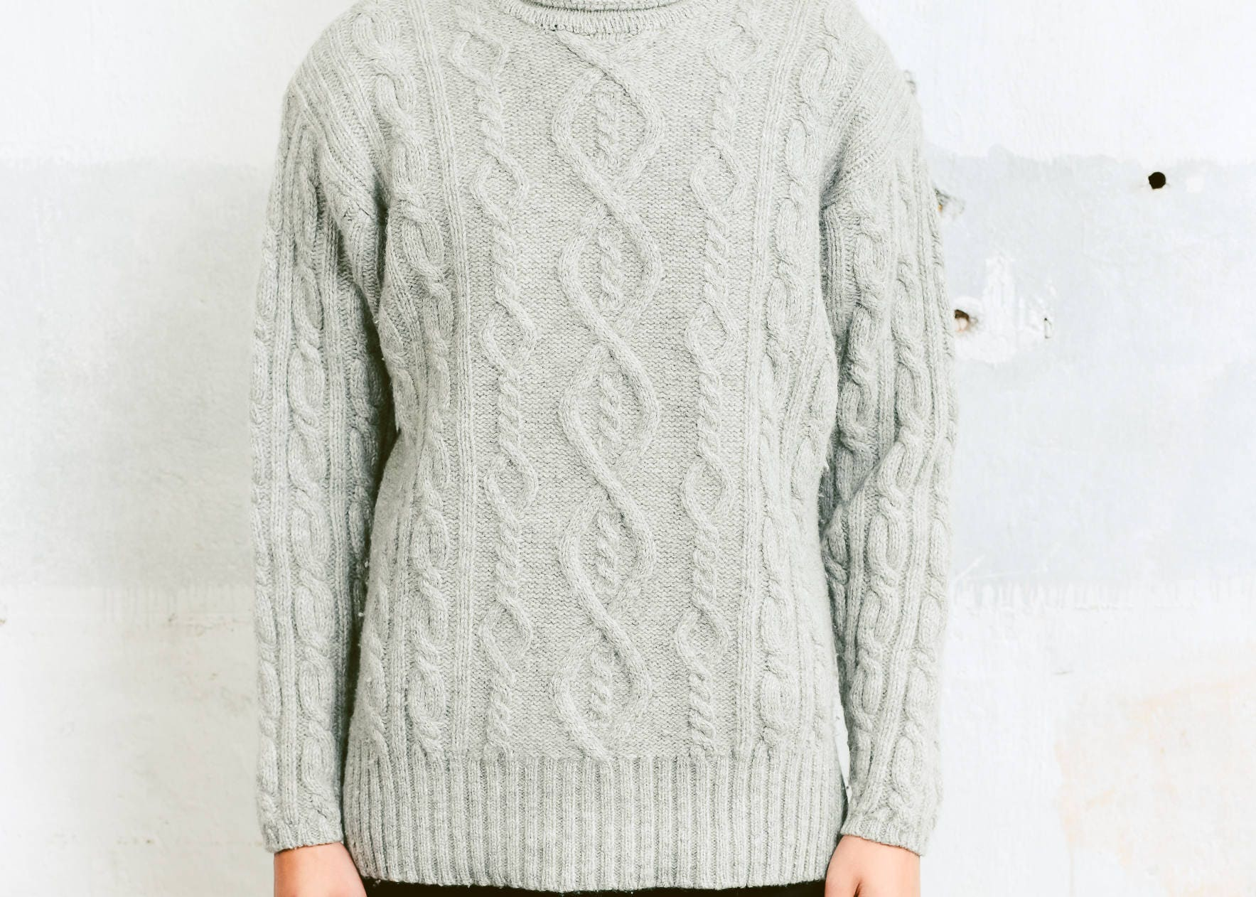 Men's Fisherman Sweater . Vintage 90s Cable Knit Sweater Men Gift ...