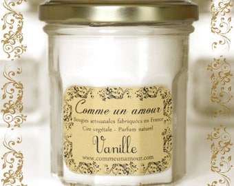 Vanilla Scented Candle - As a Love - Handcrafted Made in France