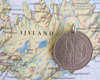 Iceland coin necklace - 4 different designs - made of original coins from Iceland - wanderlust - island