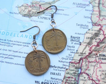 Israeli coin earrings - 4 different options - made of original coins from Israel