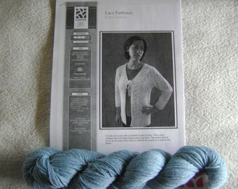Sterling Silk and Silver  Kit Lace Embrace Cardigan Kit