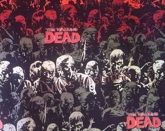 Walking Dead w/Red, Inside Black, Red, Welding Cap, Reversible Cap, Biker Cap, Skull Cap, Hardhat Liner, Welders Cap, Custom, Cycling Cap