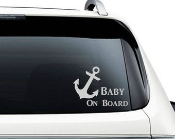 Anchor Car Decal Etsy - Anchor custom vinyl decals for car