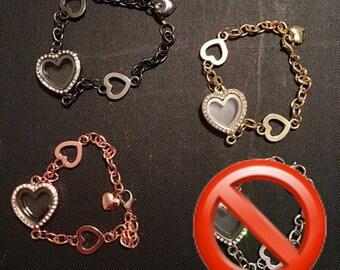 Heart Floating Charm Bracelet