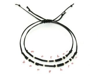 Mother Daughter Morse Code Bracelet Mother Daughter Bracelet Mothers day Gift for Mom Gift from daughter gift for daughter