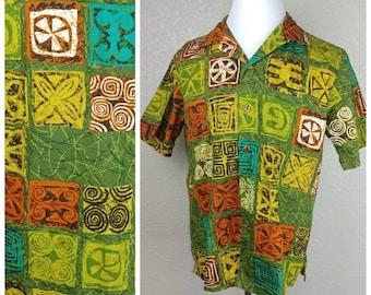 Amazing Vintage Diamond Head Tiki Shirt