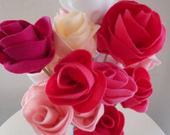 Felt Rose Flower Instructions (Download)