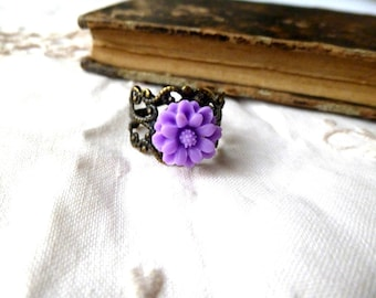 Print and resin ring purple