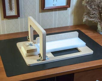 Single wire Soap Cutter For Any Length Loaf from Siberian birch with Polyethylene surface
