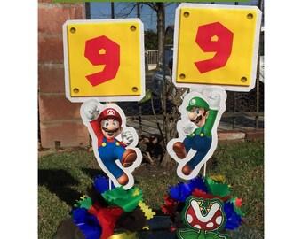 Super Mario Bross  decoration party centerpiece.