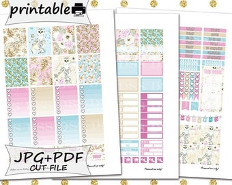 50% OFF SALE Winter Owl Planner Stickers/Erin Condren Planner Stickers/Printable Planner Stickers/Winter Stickers/Winter Printable Stickers/