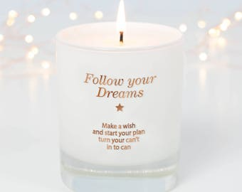 New Job Gift For Her, New Job, Sorry You're Leaving, Follow Your Dreams, Leaving Home, Going Away Gift, Scented Candle, Candle