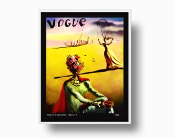 Salvador Dali Vogue 1939 Cover print, Vogue Cover Print, Salvador Dali Print, Vogue Fashion print, surrealist art Salvador Dali Illustration