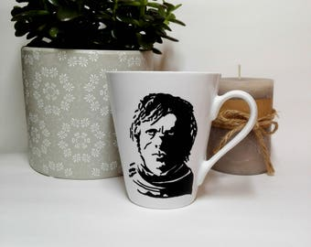 "Game of Thrones Mug,Tyrion Lannister coffee mug,unique ""I drink and I know things'' mug,hand painted GOT mug,GOT gift,GOT lover,gift for him"
