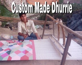 Custom made dhurrie rugs,carpet  ( made on order)   wool , jute and cotton.