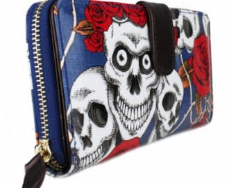 Skull and Rose Purse