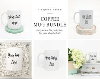 Coffee Mug Bundle | Styled Stock Photography| Mug Mockup | Instagram photos | Product mockup