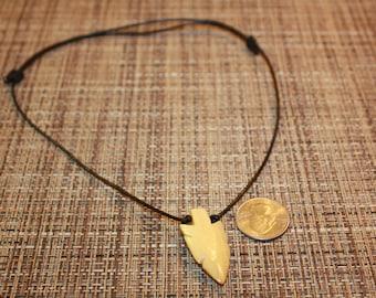 Pine wood Arrowhead adjustable Necklace